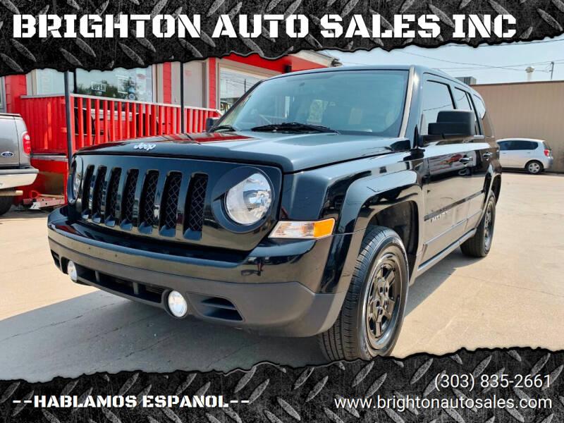 2016 Jeep Patriot for sale at BRIGHTON AUTO SALES INC in Brighton CO