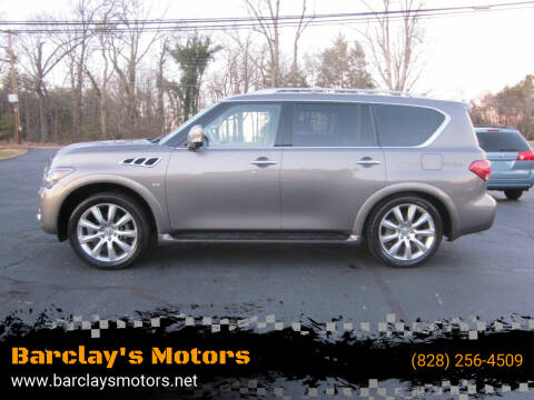 2014 Infiniti QX80 for sale at Barclay's Motors in Conover NC