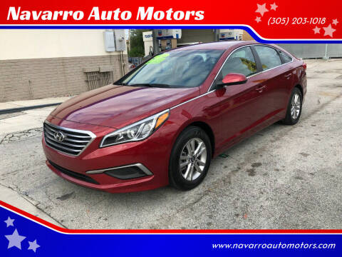 2016 Hyundai Sonata for sale at Navarro Auto Motors in Hialeah FL