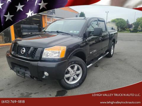 2011 Nissan Titan for sale at Lehigh Valley Truck n Auto LLC. in Schnecksville PA