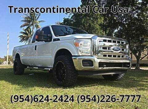 2011 Ford F-250 Super Duty for sale at Transcontinental Car in Fort Lauderdale FL