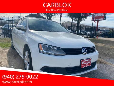 2014 Volkswagen Jetta for sale at CARBLOK in Lewisville TX