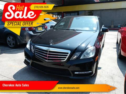 2012 Mercedes-Benz E-Class for sale at Cherokee Auto Sales in Acworth GA