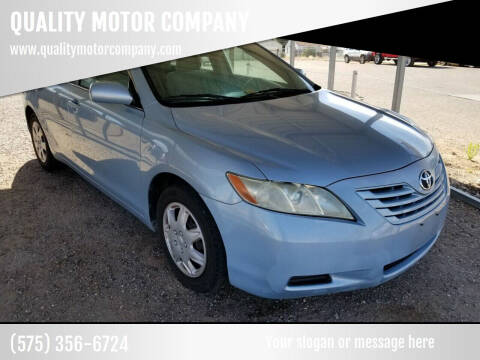 2007 Toyota Camry for sale at QUALITY MOTOR COMPANY in Portales NM