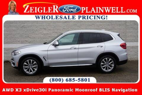 2019 BMW X3 for sale at Zeigler Ford of Plainwell- Jeff Bishop in Plainwell MI