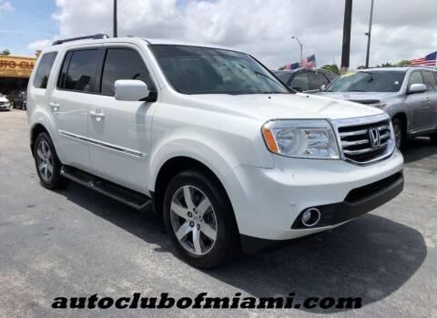 2014 Honda Pilot for sale at AUTO CLUB OF MIAMI in Miami FL