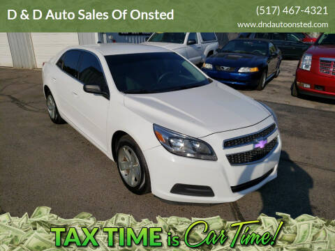 2013 Chevrolet Malibu for sale at D & D Auto Sales Of Onsted in Onsted   Brooklyn MI