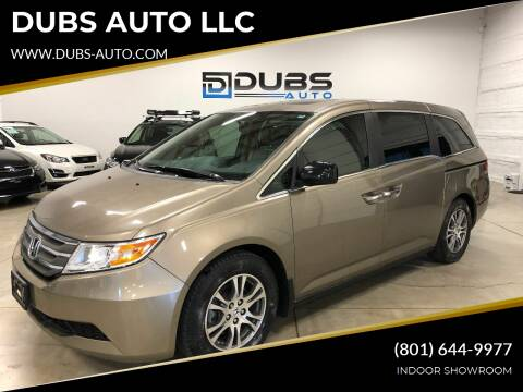 2013 Honda Odyssey for sale at DUBS AUTO LLC in Clearfield UT