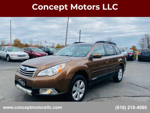 2012 Subaru Outback for sale at Concept Motors LLC in Holland MI