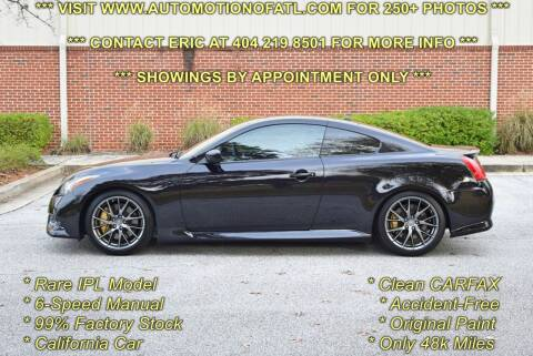 2011 Infiniti G37 Coupe for sale at Automotion Of Atlanta in Conyers GA