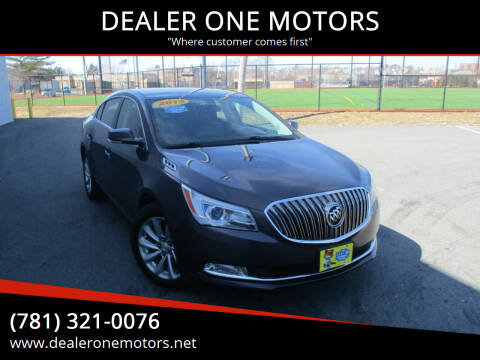 2015 Buick LaCrosse for sale at DEALER ONE MOTORS in Malden MA