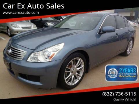 2007 Infiniti G35 for sale at Car Ex Auto Sales in Houston TX
