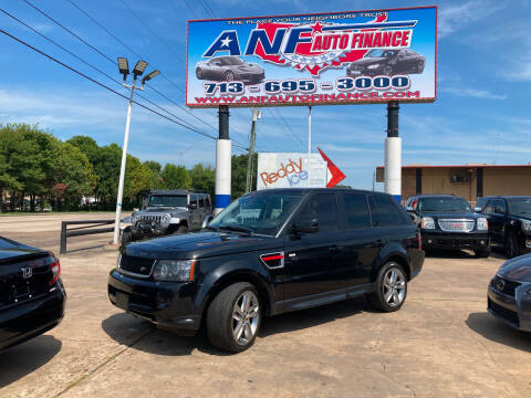 2013 Land Rover Range Rover Sport for sale at ANF AUTO FINANCE in Houston TX