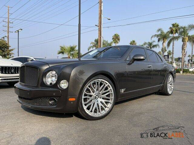 2013 Bentley Mulsanne for sale at BLACK LABEL AUTO FIRM in Riverside CA
