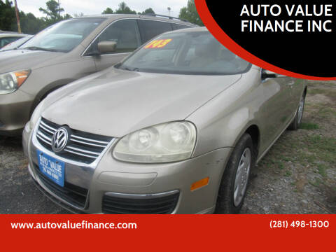 2005 Volkswagen Jetta for sale at AUTO VALUE FINANCE INC in Stafford TX