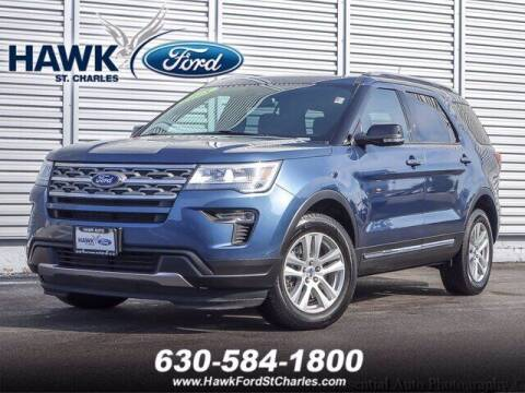 2018 Ford Explorer for sale at Hawk Ford of St. Charles in St Charles IL