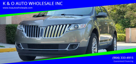 2012 Lincoln MKX for sale at K & O AUTO WHOLESALE INC in Jacksonville FL