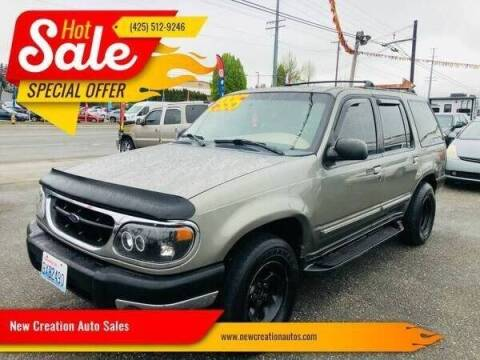 2000 Ford Explorer for sale at New Creation Auto Sales in Everett WA
