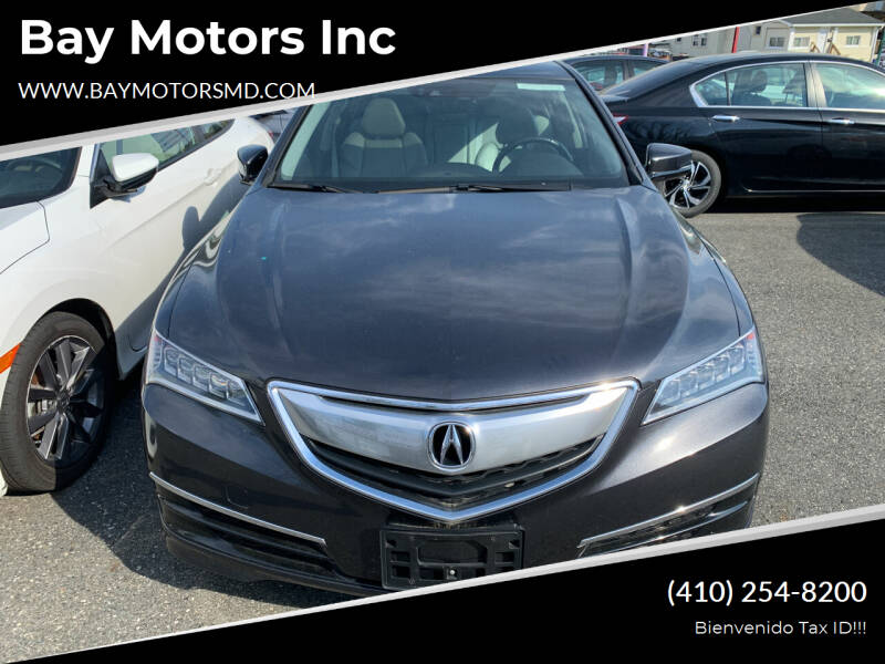 2015 Acura TLX for sale at Bay Motors Inc in Baltimore MD