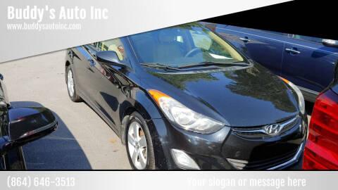 2013 Hyundai Elantra for sale at Buddy's Auto Inc in Pendleton SC