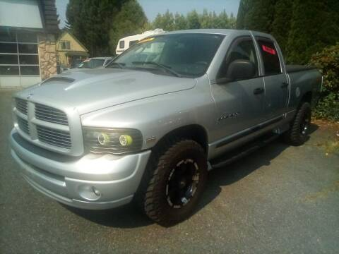 2005 Dodge Ram Pickup 1500 for sale at Payless Car & Truck Sales in Mount Vernon WA
