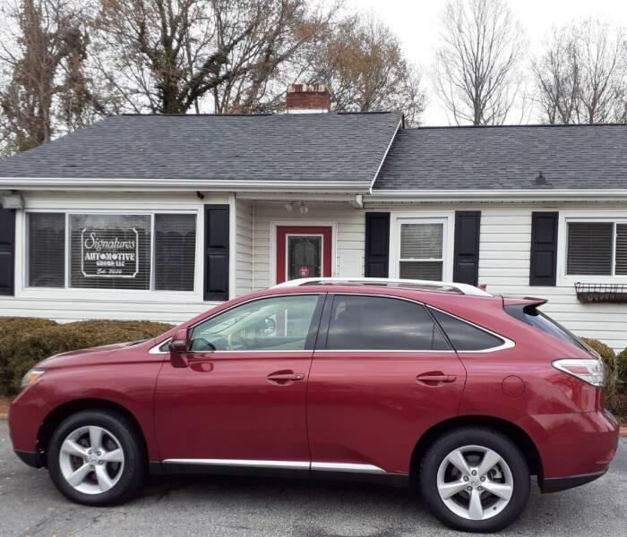 2011 Lexus RX 350 for sale at SIGNATURES AUTOMOTIVE GROUP LLC in Spartanburg SC