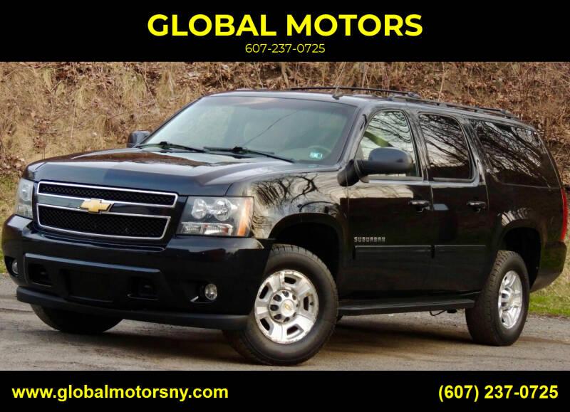 2013 Chevrolet Suburban for sale at GLOBAL MOTORS in Binghamton NY