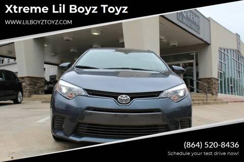 2016 Toyota Corolla for sale at Xtreme Lil Boyz Toyz in Greenville SC
