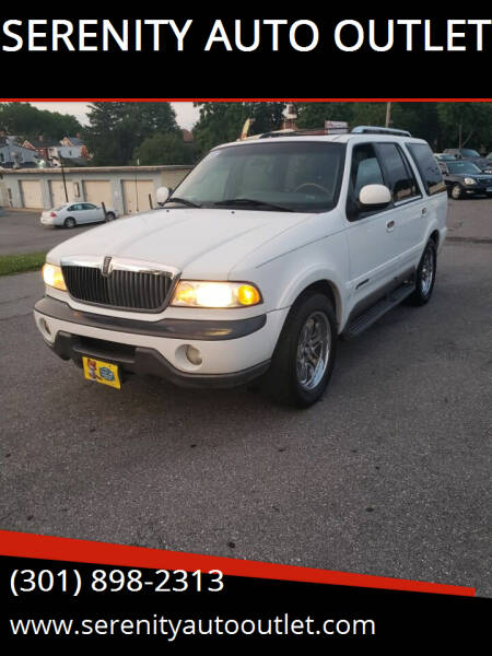 1998 Lincoln Navigator for sale at SERENITY AUTO OUTLET in Frederick MD