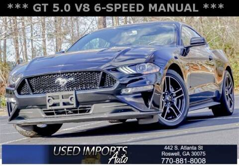 2018 Ford Mustang for sale at Used Imports Auto in Roswell GA