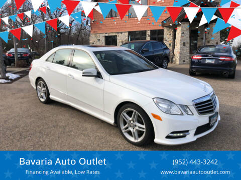 2013 Mercedes-Benz E-Class for sale at Bavaria Auto Outlet in Victoria MN