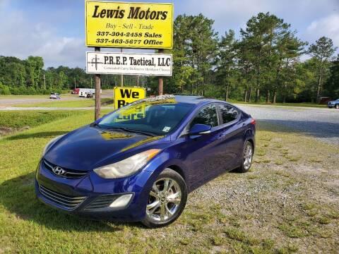 2011 Hyundai Elantra for sale at Lewis Motors LLC in Deridder LA