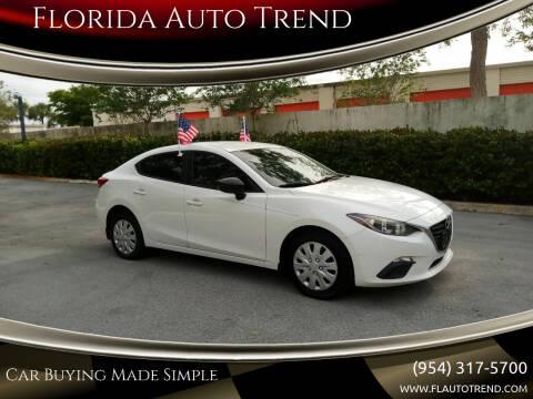 2015 Mazda MAZDA3 for sale at Florida Auto Trend in Plantation FL