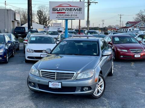 2008 Mercedes-Benz C-Class for sale at Supreme Auto Sales in Chesapeake VA