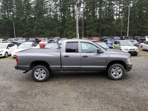 2005 Dodge Ram Pickup 1500 for sale at WILSON MOTORS in Spanaway WA