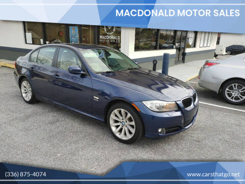 2011 BMW 3 Series for sale at MacDonald Motor Sales in High Point NC