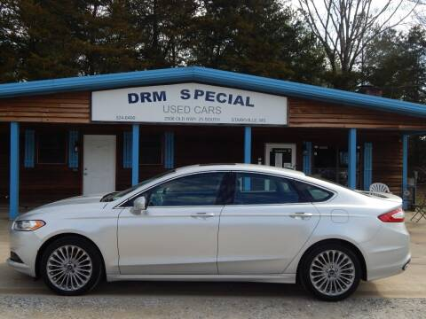 2015 Ford Fusion for sale at DRM Special Used Cars in Starkville MS