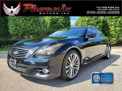 2012 Infiniti G37 Coupe for sale at Phoenix Motors Inc in Raleigh NC