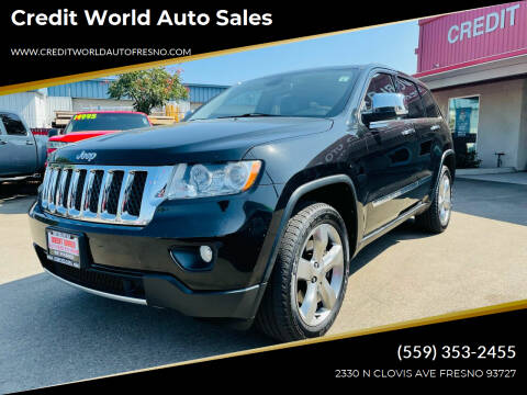 2013 Jeep Grand Cherokee for sale at Credit World Auto Sales in Fresno CA