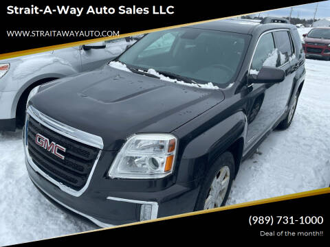 2016 GMC Terrain for sale at Strait-A-Way Auto Sales LLC in Gaylord MI