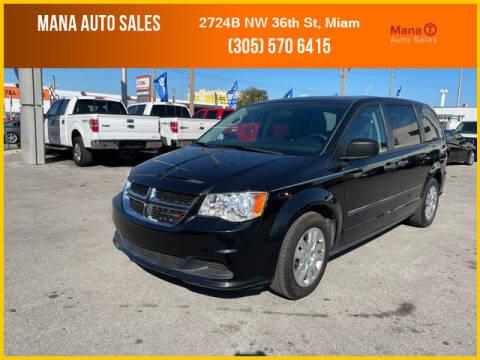 2016 Dodge Grand Caravan for sale at MANA AUTO SALES in Miami FL