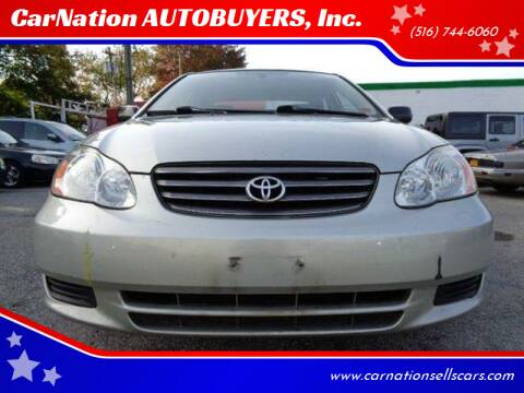 2004 Toyota Corolla for sale at CarNation AUTOBUYERS, Inc. in Rockville Centre NY