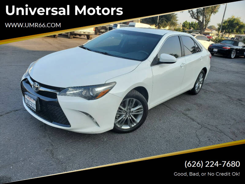 2017 Toyota Camry for sale at Universal Motors in Glendora CA