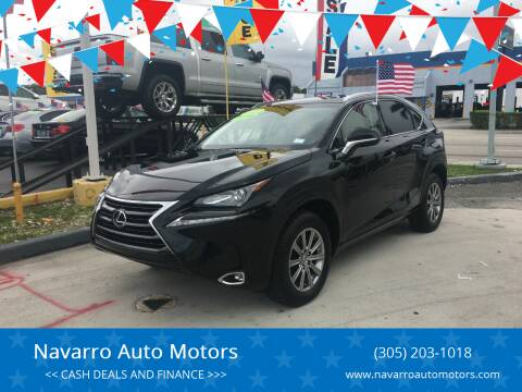 2016 Lexus NX 200t for sale at Navarro Auto Motors in Hialeah FL