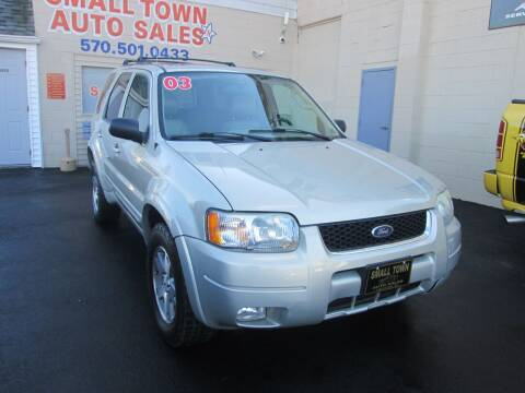 2003 Ford Escape for sale at Small Town Auto Sales in Hazleton PA