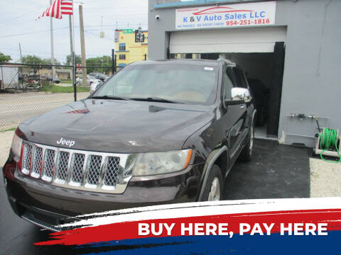 2011 Jeep Grand Cherokee for sale at K & V AUTO SALES LLC in Hollywood FL