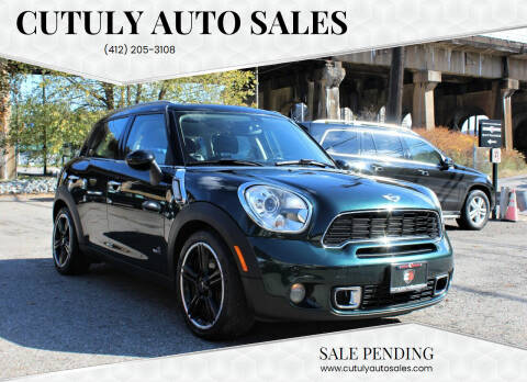 2011 MINI Cooper Countryman for sale at Cutuly Auto Sales in Pittsburgh PA