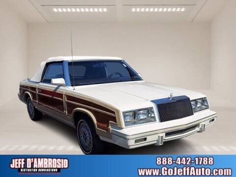 1983 Chrysler Le Baron for sale at Jeff D'Ambrosio Auto Group in Downingtown PA
