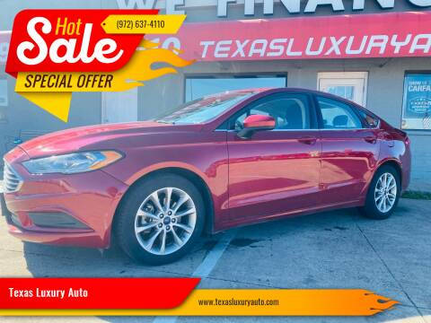 2017 Ford Fusion for sale at Texas Luxury Auto in Cedar Hill TX
