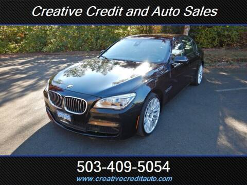 2013 BMW 7 Series for sale at Creative Credit & Auto Sales in Salem OR
